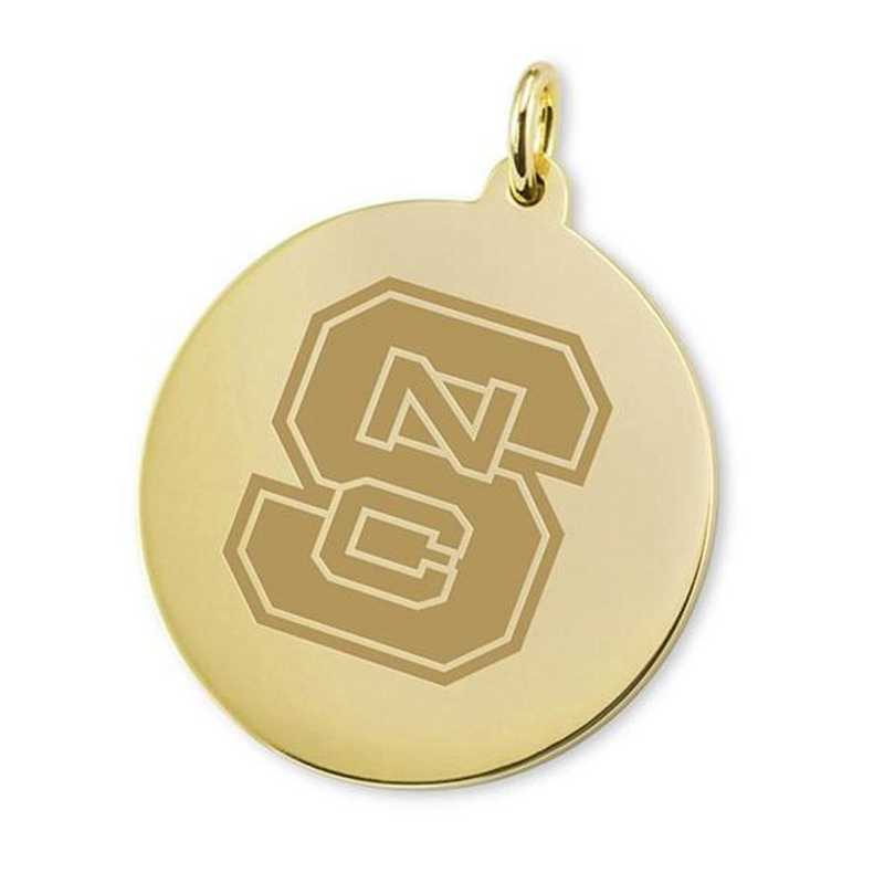 615789153641: NC State 18K Gold Charm by M.LaHart & Co.
