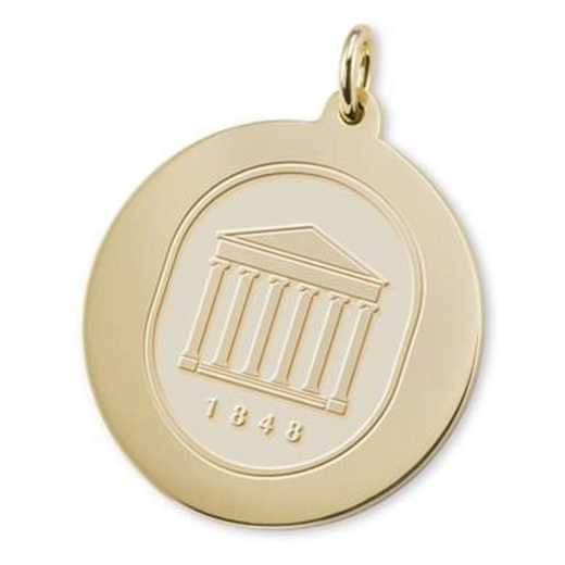615789177395: Ole Miss 18K Gold Charm by M.LaHart & Co.