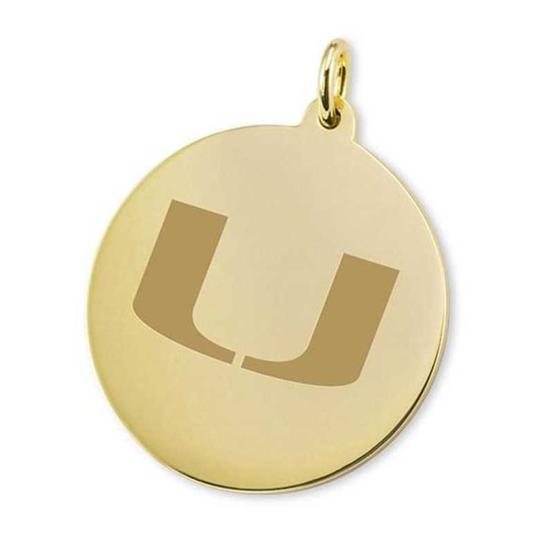 615789189893: Miami 18K Gold Charm by M.LaHart & Co.