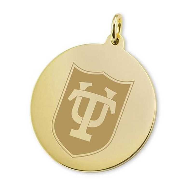 615789209478: Tulane 18K Gold Charm by M.LaHart & Co.