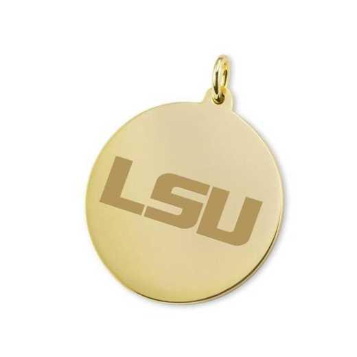 615789268031: LSU 18K Gold Charm by M.LaHart & Co.