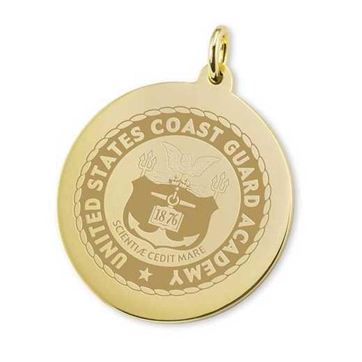 615789343462: Coast Guard Academy 18K Gold Charm by M.LaHart & Co.
