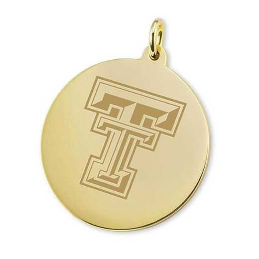 615789397809: Texas Tech 18K Gold Charm by M.LaHart & Co.