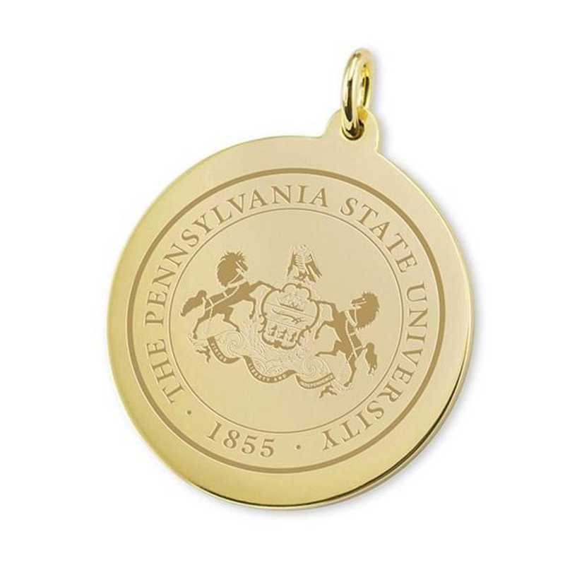 615789404439: Penn State 18K Gold Charm by M.LaHart & Co.