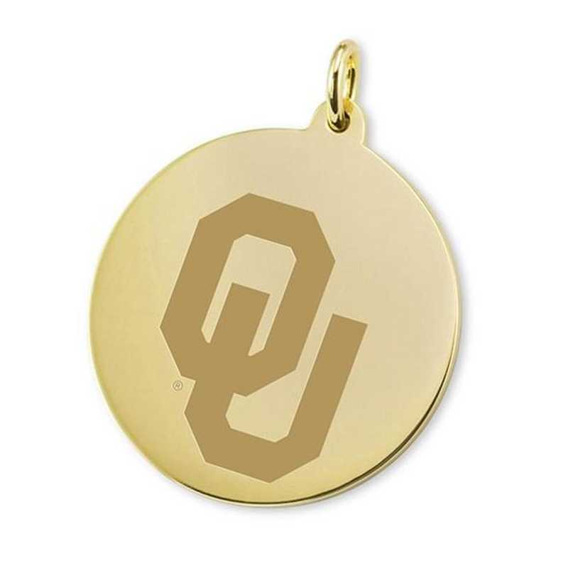 615789415374: Oklahoma 18K Gold Charm by M.LaHart & Co.
