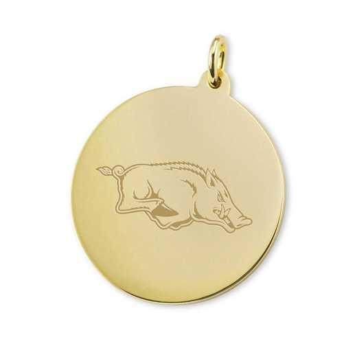 615789534112: University of Arkansas 18K Gold Charm by M.LaHart & Co.