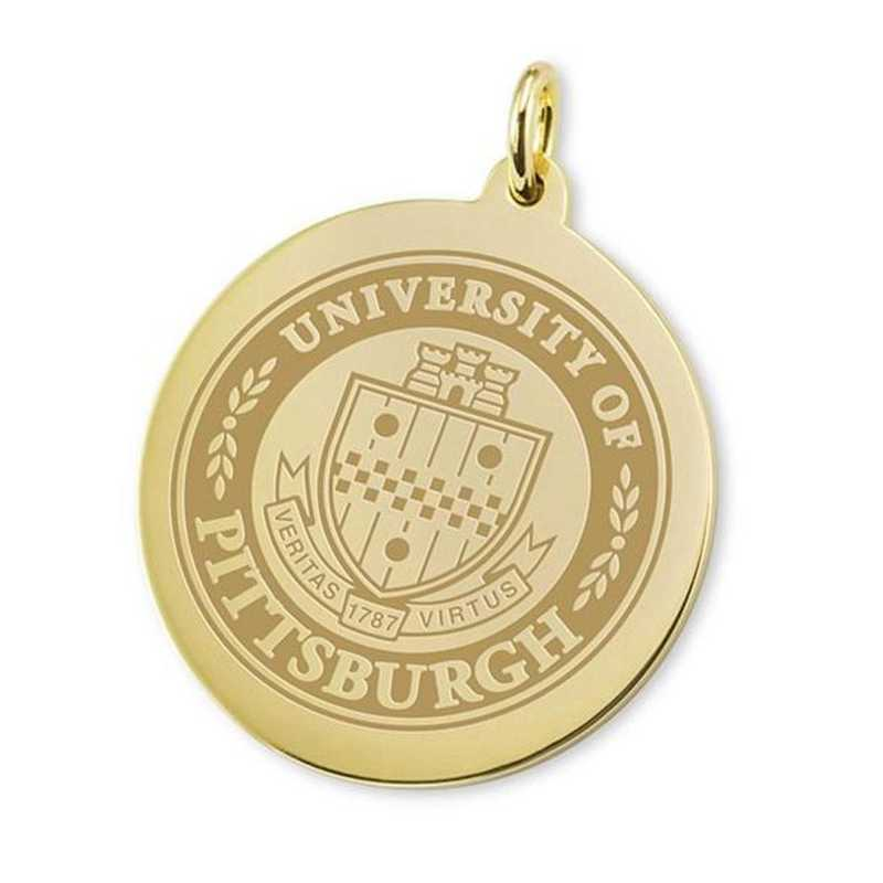 615789552000: Pittsburgh 18K Gold Charm by M.LaHart & Co.