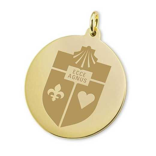 615789557036: St. John's 18K Gold Charm by M.LaHart & Co.