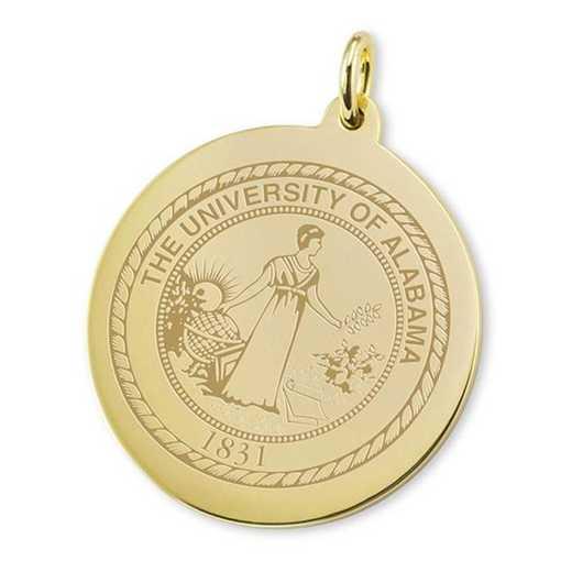 615789568339: Alabama 18K Gold Charm by M.LaHart & Co.