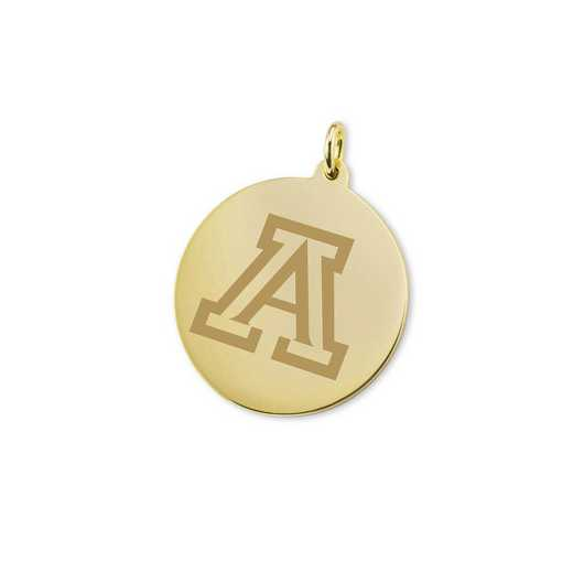615789591009: University of Arizona 18K Gold Charm by M.LaHart & Co.