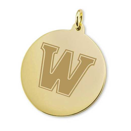 615789615378: Williams College 18K Gold Charm by M.LaHart & Co.