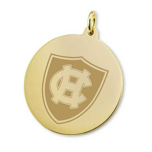615789656388: Holy Cross 18K Gold Charm by M.LaHart & Co.