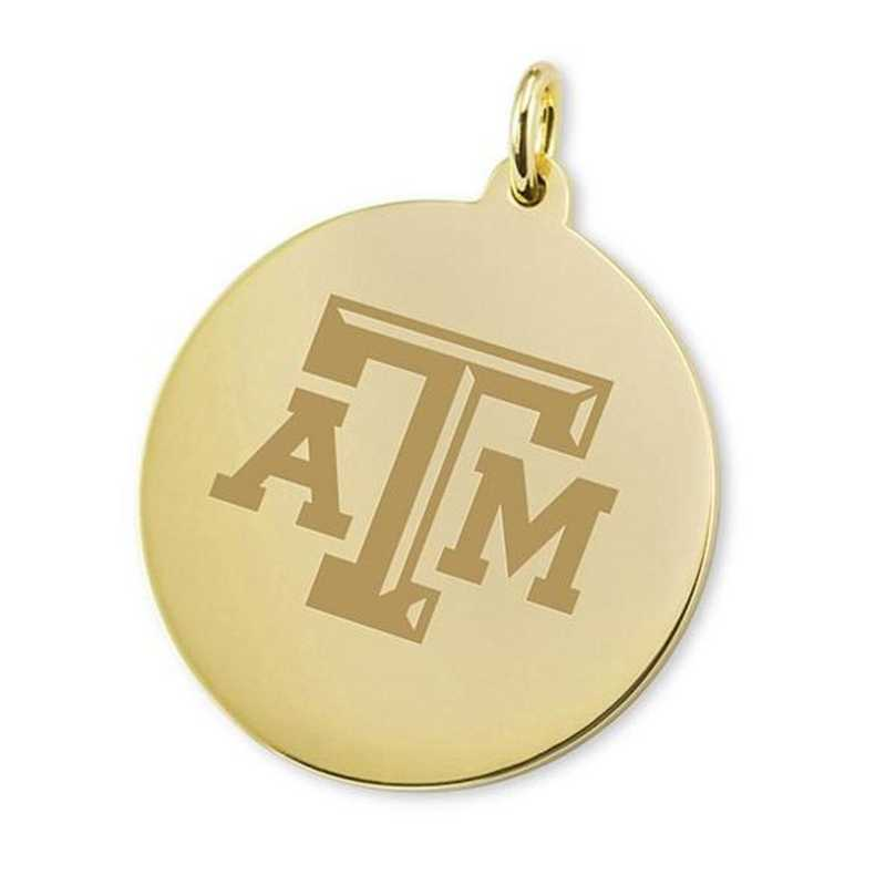 615789681113: Texas A&M 18K Gold Charm by M.LaHart & Co.