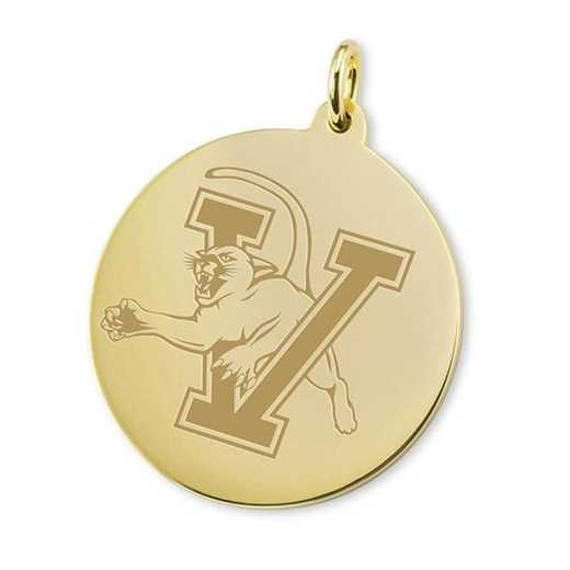 615789686972: UVM 18K Gold Charm by M.LaHart & Co.