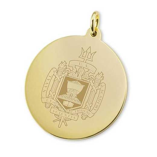 615789704805: Naval Academy 18K Gold Charm by M.LaHart & Co.