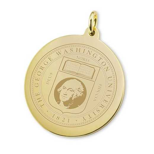 615789745921: George Washington 18K Gold Charm by M.LaHart & Co.