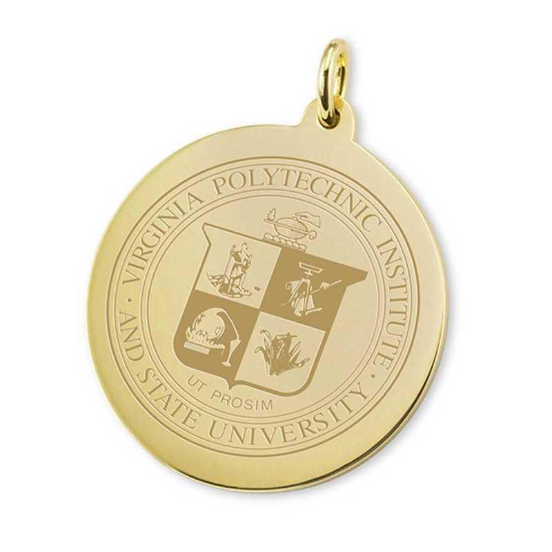 615789763888: Virginia Tech 18K Gold Charm by M.LaHart & Co.