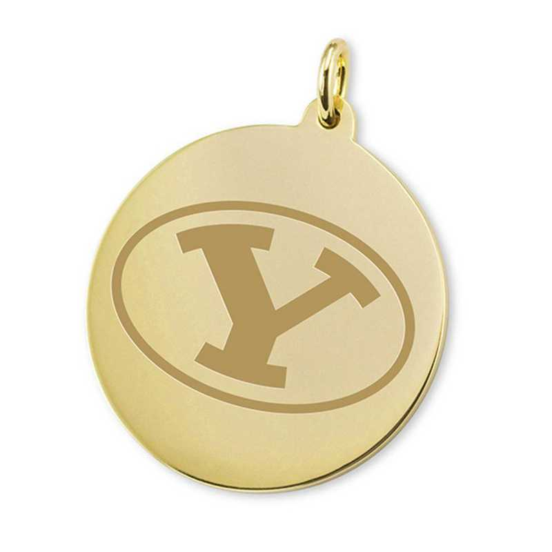615789767015: Brigham Young University 18K Gold Charm by M.LaHart & Co.