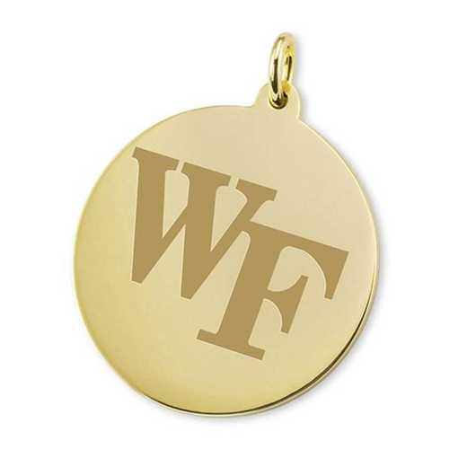 615789771340: Wake Forest 18K Gold Charm by M.LaHart & Co.