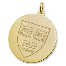 615789787877: Harvard 18K Gold Charm by M.LaHart & Co.