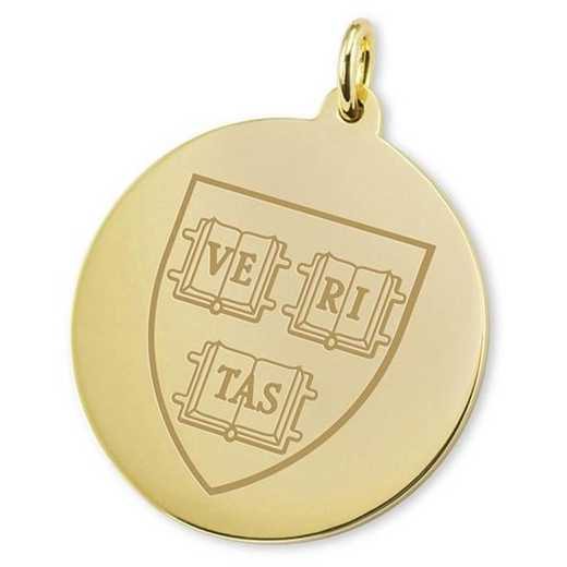 615789787877: Harvard 18K Gold Charm by M.LaHart & Co.