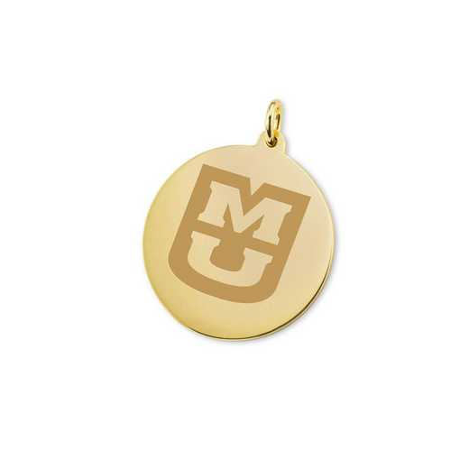 615789805922: University of Missouri 18K Gold Charm by M.LaHart & Co.