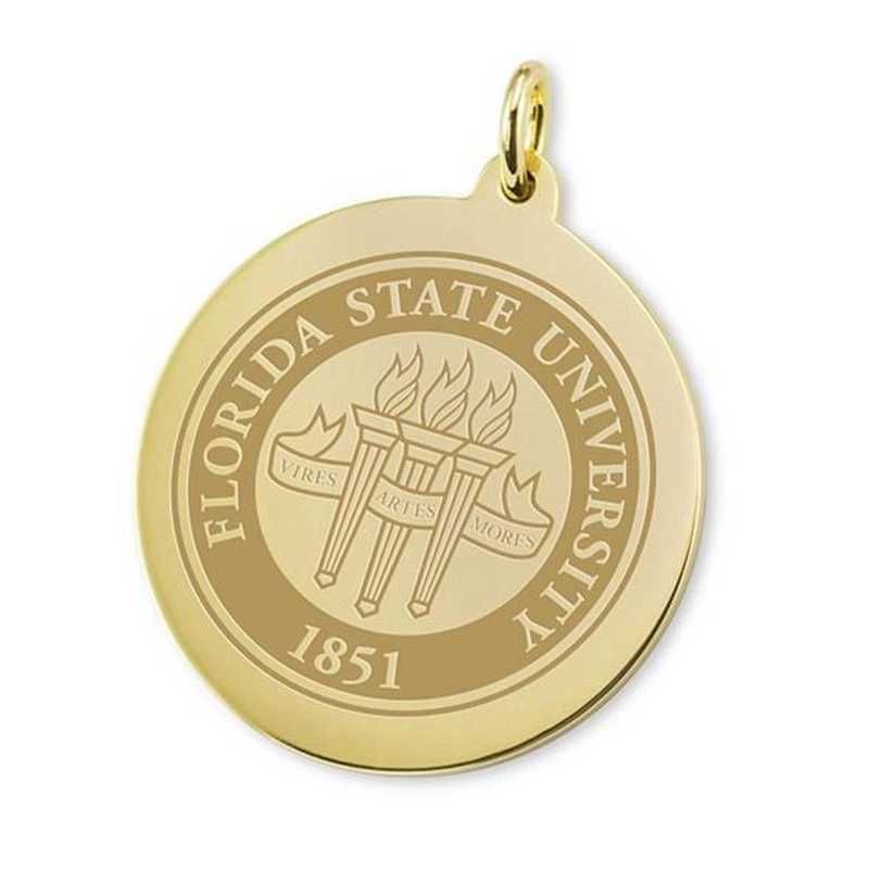 615789850144: Florida State 18K Gold Charm by M.LaHart & Co.