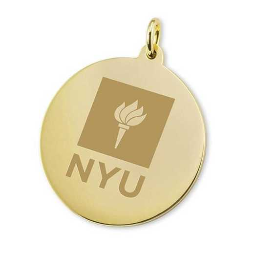 615789851875: NYU 18K Gold Charm by M.LaHart & Co.