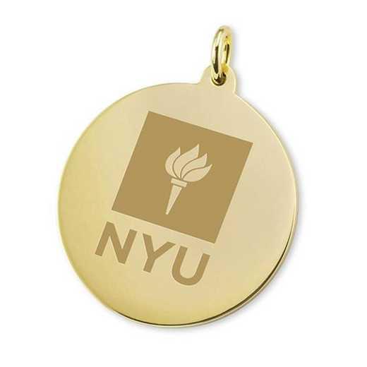 615789851875: NYU 18K Gold Charm by M.LaHart & Co.