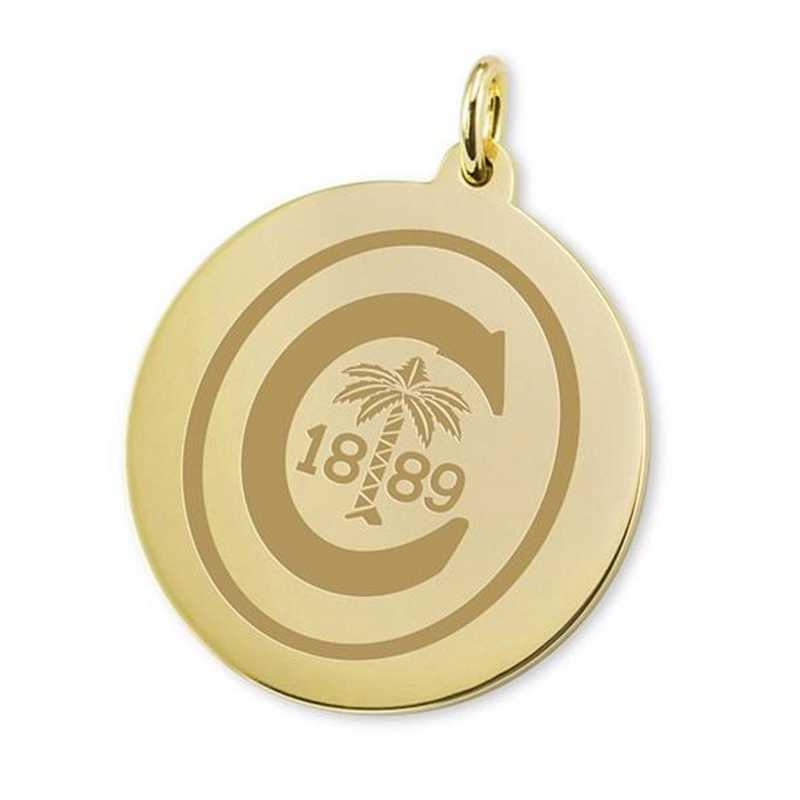 615789853466: Clemson 18K Gold Charm by M.LaHart & Co.