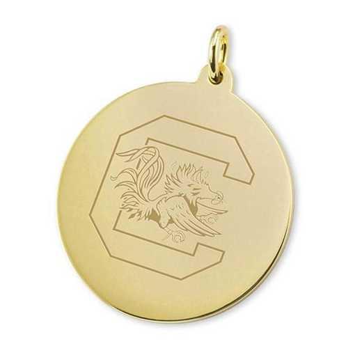 615789861881: South Carolina 18K Gold Charm by M.LaHart & Co.