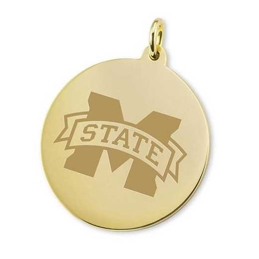 615789863618: Mississippi State 18K Gold Charm by M.LaHart & Co.
