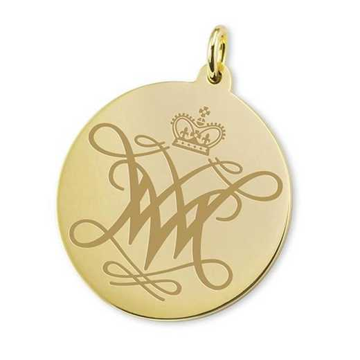615789870982: William & Mary 18K Gold Charm by M.LaHart & Co.