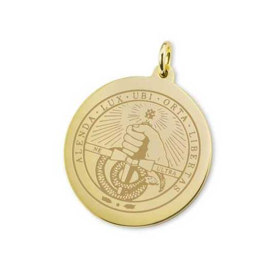 615789896333: Davidson College 18K Gold Charm by M.LaHart & Co.