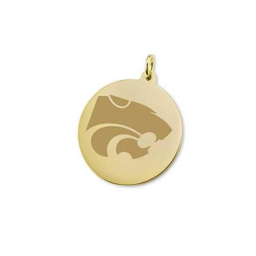 615789897965: Kansas State University 18K Gold Charm by M.LaHart & Co.
