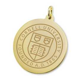 615789951230: Cornell 18K Gold Charm by M.LaHart & Co.