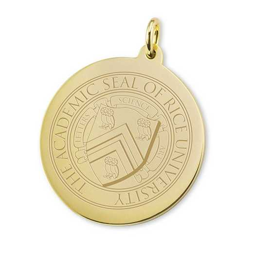 615789984184: Rice University 18K Gold Charm by M.LaHart & Co.