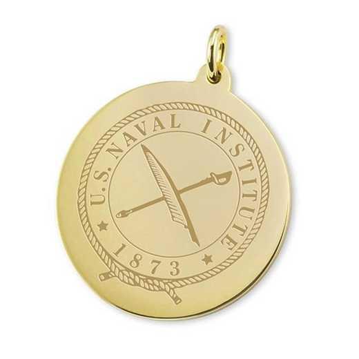 615789996491: USNI 18K Gold Charm by M.LaHart & Co.