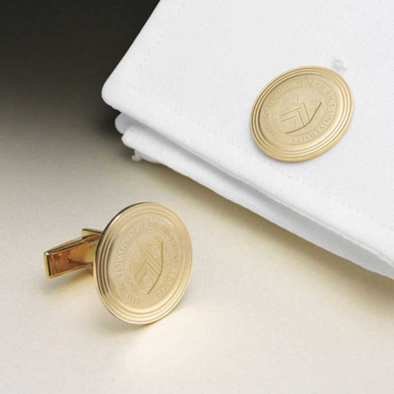615789583233: Rice Univ 18K Gld Cufflinks by M.LaHart & Co.