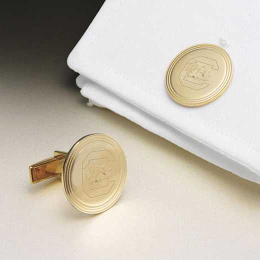 615789730255: South Carolina 18K Gld Cufflinks by M.LaHart & Co.