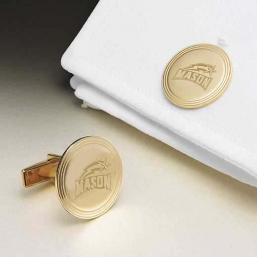 615789803270: George Mason Univ 18K Gld Cufflinks by M.LaHart & Co.