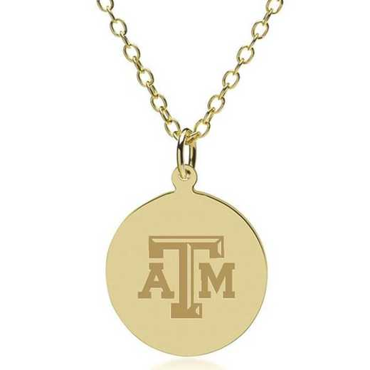 615789016267: Texas A&M University 18K Gold Pendant & Chain by M.LaHart & Co.