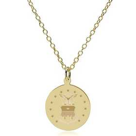 615789028468: USAFA 18K Gold Pendant & Chain by M.LaHart & Co.
