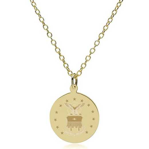 615789028468: USAFA 18K Gold Pendant & Chain by M.LaHart & Co.