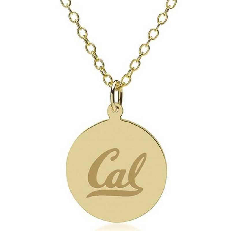 615789034858: Berkeley 18K Gold Pendant & Chain by M.LaHart & Co.