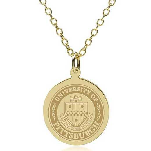 615789064183: Pitt 18K Gold Pendant & Chain by M.LaHart & Co.