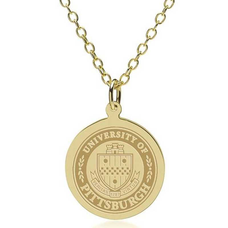 615789064183: Pitt 18K Gold Pendant & Chain by M.LaHart & Co.