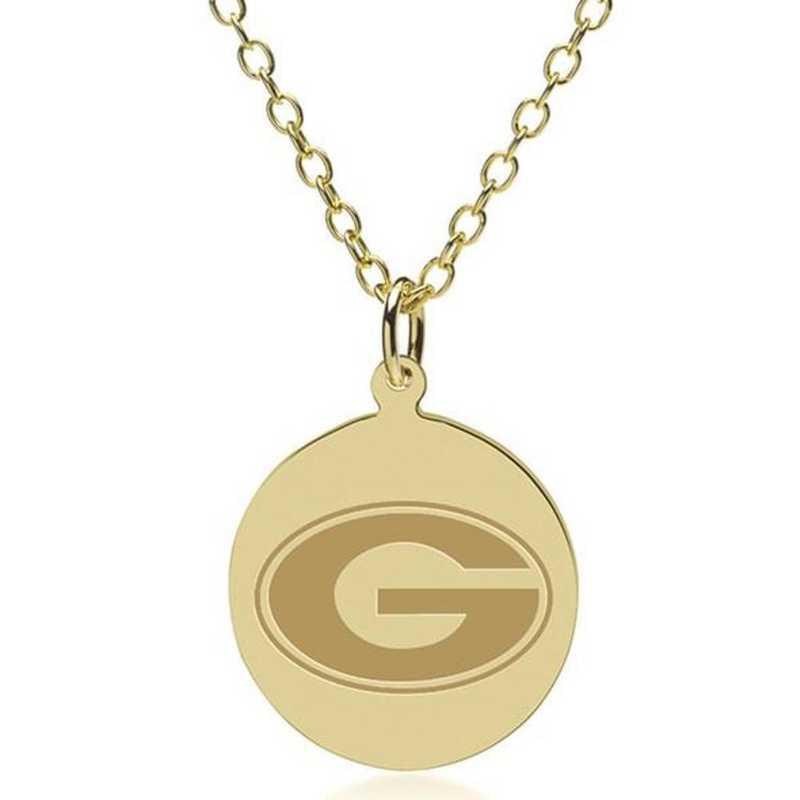 615789134350: Georgia 18K Gold Pendant & Chain by M.LaHart & Co.