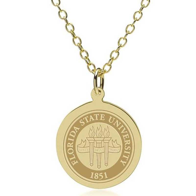 615789136255: Florida State 18K Gold Pendant & Chain by M.LaHart & Co.