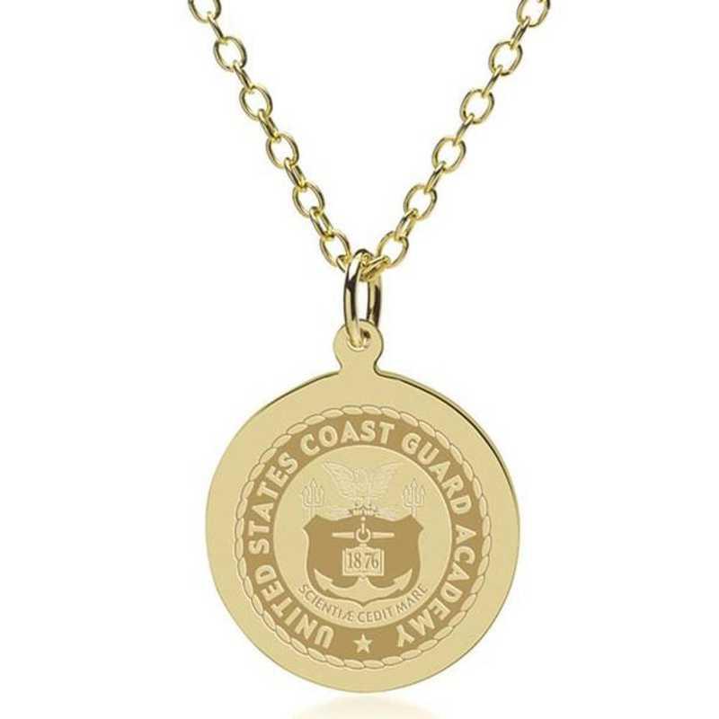 615789273639: USCGA 18K Gold Pendant & Chain by M.LaHart & Co.